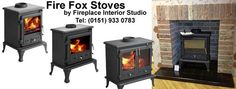 Fire Fox gas and multi fuel stoves from Fireplace Interior Studio of Liverpool. Tel: 0151 933 0783.  www.stovesliverpool.co.uk/about-stoves-liverpool.html