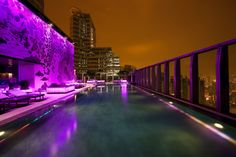The highest swimming pool in the world with awe-inspiring city views - at W Hong Kong Kowloon