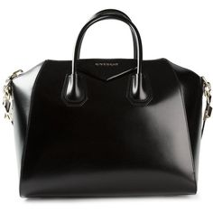 Givenchy medium 'Antigona' tote ($2,385) ❤ liked on Polyvore featuring bags, handbags, tote bags, black, purses, black leather purse, genuine leather tote, black leather tote bag, zip top tote bag and leather purse