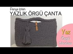 EASY CROCHET BAG MADE WITH FETTUCCIA ENGLISH SUBTITLES - YouTube