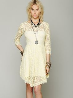 Free People Floral Mesh Lace Dress, 99.16