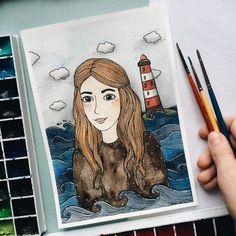 Sea girl . #samoshkina_art #illustration #illustrations #dailyart #art #artist #art_we_inspire #art_spotlight #art_public #inspire #instaart #wearevsco #vscoart #vscocam #watercolors #watercolorart #aquarelle #cute #toppaint #topdraw #topcreator #globalart #topart #painteveryday #detail #soulart #artcitchen #eatsleepdraw #artbook