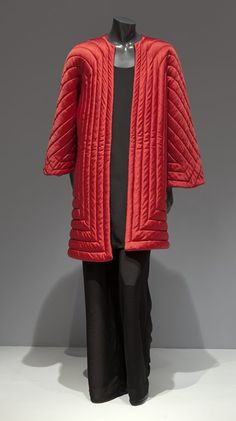 Evening coat, Halston, late 1970's.