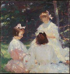 Children in Woods    Frank W. Benson (American, Salem, Massachusetts 1862–1951 Salem, Massachusetts)    Date: 1905  Accession Number: 67.187.210  Met American wing