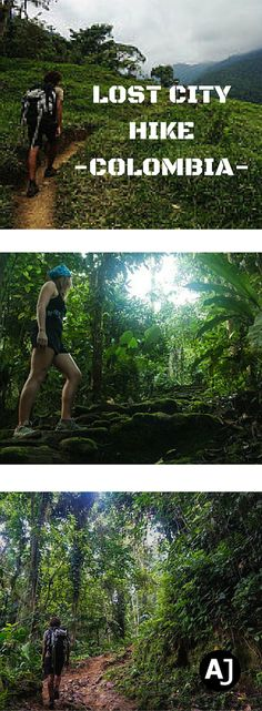 Hiking Route to the Lost City of the Tayronas in Colombia.