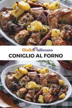 Meat Recipes, Chicken Recipes, Snack Recipes, Cooking Recipes, Roast Rabbit, Crispy Baked Potatoes, Italian Dishes, Four, Pot Roast