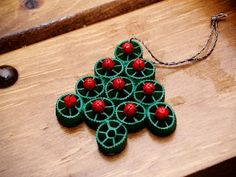 pasta crafts christmas | Pasta Christmas Tree Ornament