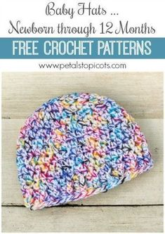 Make these patterns your go to for baby gifts, charity drives, and all the little babes in your life ... written to fit babies from birth through their first year. Click over for the free crochet patterns. #petalstopicots