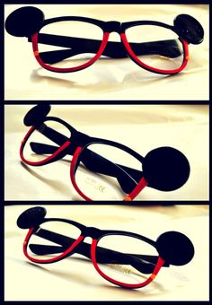 Mickey Mouse glasses :)