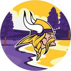 Viking Signs, Minnesota Vikings Football, Framed Tv, Round Logo, Nfl Fans, Colorful Artwork, Nfl Shop, Landscape, Wall Art