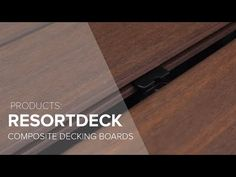 The natural beauty of timber decking with the extra benefits of durability, dimensional stability & easy care properties ResortDeck combines the natural beau. Wooden Pool Deck, Timber Deck, Composite Decking, Stability, Ideas, Composite Cladding, Thoughts