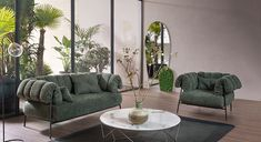 Add elegance to your modern living room design with this beautiful armchair: Tirella from Italian furniture brand Bonaldo. The back of the chair features cushions that curve around the metal structure for a unique effect. An extremely comfortable armchair with an elegant design & a modern feel making it a focal point for your contemporary or traditional living room design. Also available in sofa form through Casa Spazio, a modern furniture store in Chicago. Also shop online at… Modern Furniture Living Room, Modern Furniture Stores, Italian Furniture Brands, Italian Furniture, Traditional Design Living Room, Beautiful Armchairs, Modern Sofa, Furniture, Living Room Design Modern