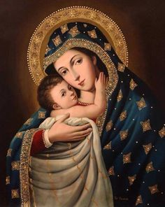 Mother Mary and Christ Child Catholic Religion, Catholic Art, Catholic Saints, Religious Art, Lady Madonna, Madonna Art, Madonna And Child, Divine Mother, Blessed Mother Mary