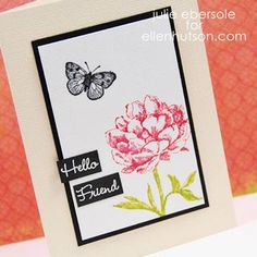 Flower card - another card whose layout may also be interpreted into a scrapbooking layout.