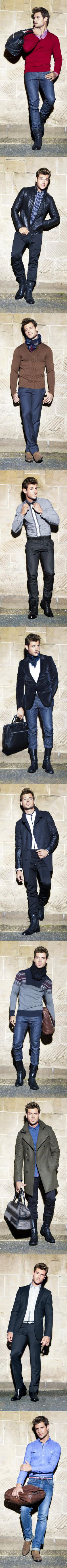 I don't like the boots, but the rest is fine! / calibre fashion mens winter 2011