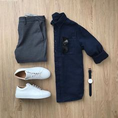 Men Casual Shirt Outfit 🖤 Very Attractive Casual Outfit Grid, Best Smart Casual Outfits, Stylish Mens Outfits, Mens Smart Casual Fashion, Smart Casual Man, Business Casual Attire For Men, Men Casual, Casual Styles, Casual Outfit For Men, Casual Look For Men