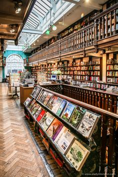 Daunt Books in Marylebone is one of the most beautiful and beloved bookshops in London. #books #bookshop #bookstore #london #marylebone