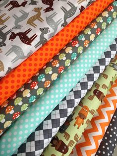 Woodland+Pals+Quilt+or+Craft+Fabric+by+Ann+Kelle+by+fabricshoppe,+$24.00