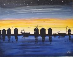 Art After Dark at Old Triangle with Jason Johnson 16 x 20 acrylic. Jan 20, 2016. Donated to Downstairs common room at Huntington Crt.