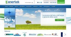 Enertek sanificazione impianti è on line.  Sito web realizzato da Estensa.