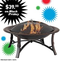 Lowe's has the fire pit you're looking for this Black Friday.