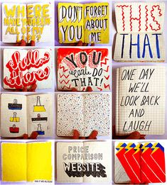 Jenni Sketchbook  schetsboek diy kleur grafisch illustratie typografie grafisch