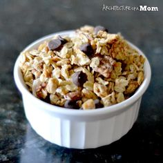 Chunky Monkey Granola {Breakfast Recipe}.  Homemade granola is the best!  This one looks amazing!  #granola #breakfast #recipe