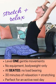 30 Minute Chair Workout For Seniors Best Office Back Pain 33 Seated Exercise Videos Images In 2019 Youtube Self Care Flexibility Relaxation