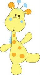 Baby Giraffe Cartoon Animal Clip Art Images Are Free To Copy For Your Own Personal Use.All Images Are On A Transparent Background Applique Templates, Applique Patterns, Applique Designs, Quilt Patterns, Embroidery Designs, Quilt Baby, Clipart, Motifs D'appliques, Sewing Appliques