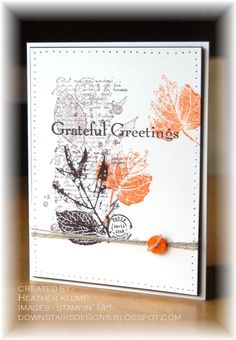 Stampin' Up! Fall  by Heather Klump at Downstairs Designs: French Foliage