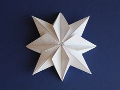 Origami paper stars for garlands or gifts