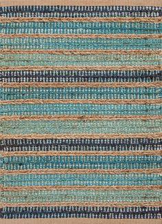 Sea Glass Stripe Jute Rug