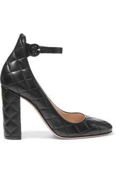 Gianvito Rossi - Quilted Leather Pumps - Black