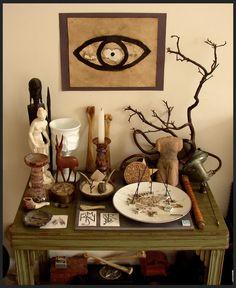 pagan altar.