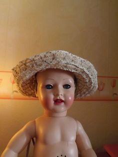 chapeau pour poupée doll jumeau raynal 1940 50