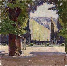 Carl Moll - In the park of Schönbrunn Palace, 1920...