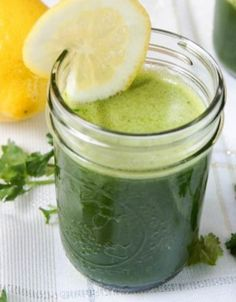 GREEN ENERGY SMOOTHIE:Ingredients 1 lemon outer yellow peel cut away 1 cucumber, peeled and chopped 1 banana, peeled 1 apple, peeled, cored and chopped 1 bunch of cilantro 1 bunch of kale cup water cup ice Raw Vegan Smoothie, Vegan Smoothie Recipes, Smoothie Ingredients, Juice Smoothie, Smoothie Drinks, Fruit Smoothies, Healthy Smoothies, Raw Food Recipes, Healthy Drinks