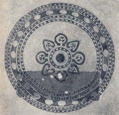 Reconstruction of design motif surrounds 11th century printed textile