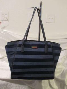 Tommy Hilfiger Handbags Med Tote 6926835 478 Color Blue Gold Retail $ 99.00 #TommyHilfiger #TotesShoppers