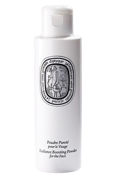 Diptyque Radiance Boosting Powder, $58 at Nordstrom. Diptyque's clay cleanser washes skin with an air of rose, jasmine, and neroli. The powder, which disintengrates into a creamy cleanser, comes equipped with a black sponge that is used to gently exfoliate skin.
