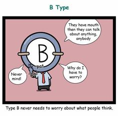 RealCrazyMan's Blood Types Comic: When they get backbitten - B type