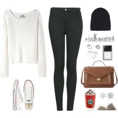 Can't wait for those winter days by jocelynj17 on Polyvore featuring moda, Acne Studios, Topshop, Converse, Forever 21, Ann Demeulemeester and Rachel