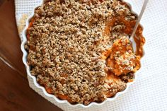 Sweet Potato Casserole with Crunchy Pecan Crumble Recipe