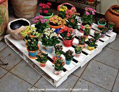 Reciclagem - Pallet em Pátina Envelhecida by ALÉM DA RUA ATELIER/Veronica Kraemer, via Flickr