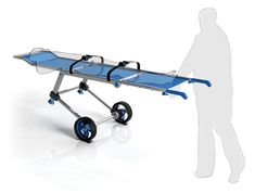 Wish Folding Stretcher has been designed to enable a rescuer to easily carry and push out of a disaster area, yes, this stretcher can be carried and pushed by only one person instead of two. Future Gadgets, Cool Gadgets, Mobility Aids, Medical Design, Search And Rescue, Save Life, Industrial Design, Design Projects, Carry On