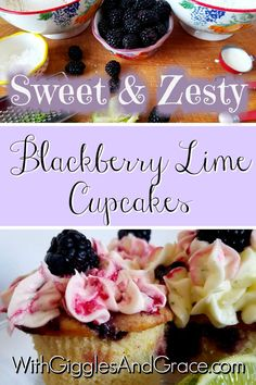 Blackberry Lime Cupcakes-You've gotta try these! The perfect blend of sweet and zesty