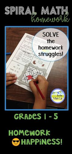 Super engaging homework your students will WANT to do. Each week has a new theme. Sets available for Grades 1 - 5. Spirals all the Common Core math standards for each grade.