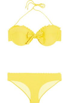 This lemon-hued biki is perfect for looking and keeping cool whether at the beach or poolside! #currentlyobsessed