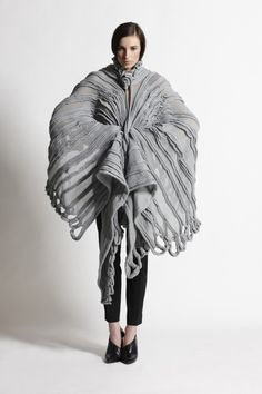 Textiles for Fashion - combining hard  soft to create circular  linear patterns and texture - fabric surface design; fabric manipulation // Derek Lawlor