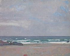 Alexandre Blanchet - Bord de mer en Bretagne, 1910 - Huile sur toile, 38 x 46,5 cm.